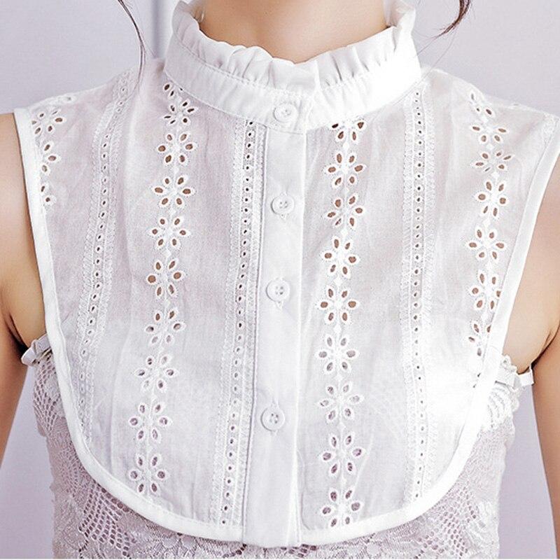 Detachalbe Collar Faux Cols Ruffe Lace Fake Collars Women Sweater Sweatshirt Accessories Nep Kraagje Blouse Tie Lapel Shirt