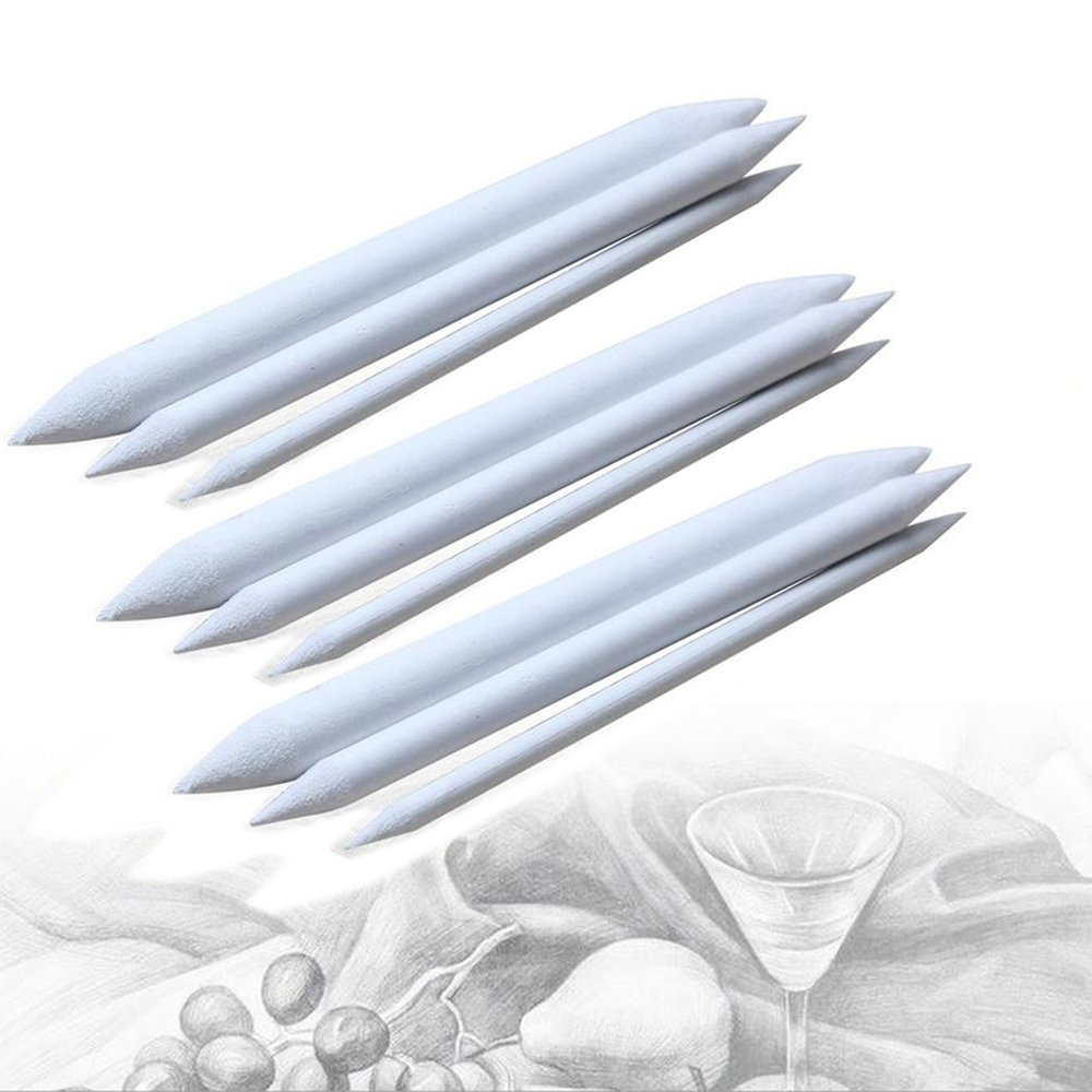 Assorted Paper Blending Stumps And Tortillions Set For Art Sketch Drawing 3Pack Of 9pcs