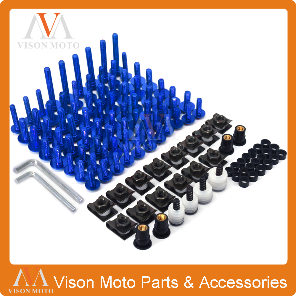 Motorcycle Scooter Complete Fairing Screw Bolt For YAMAHA YZFR1 YZFR6 YZFR6S FAZER T-MAX 530 FJR1300 MT07 MT09 MR-07 MR-09