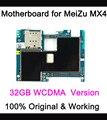 Work test  before shipping original Motherboard For meizu mx4  32gb original Main board WCDMA  version With  Chip Logic Board