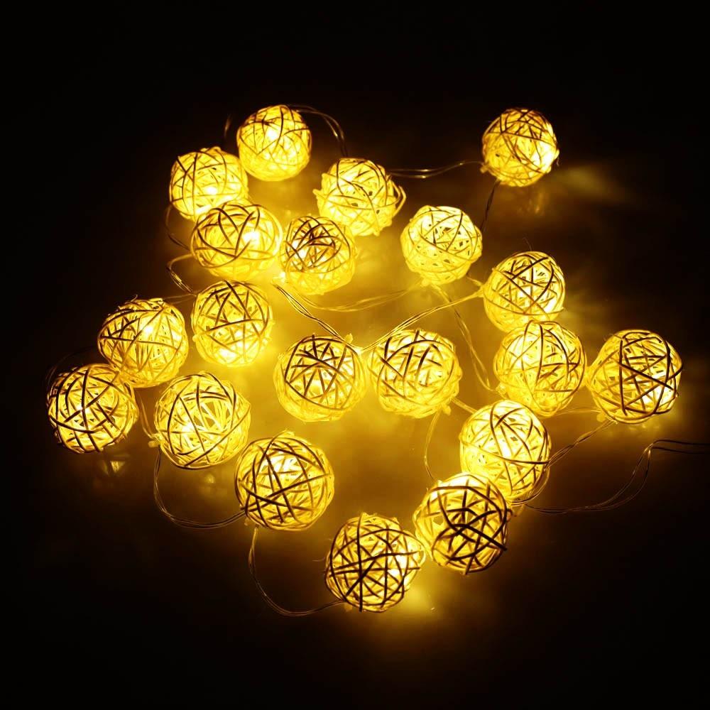 Aliexpress.com : Buy 2.1M 20 LED Garland Rattan Vine Ball Globe Lamp Fairy String Lights for ...