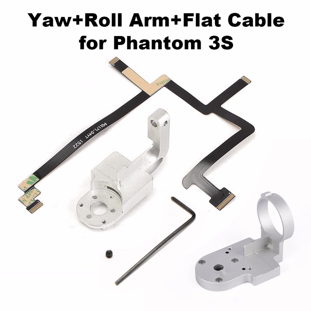 3 In 1 Gimbal Yaw Arm Roll Bracket Ribbon Flat Cable Flex For DJI Phantom 3 Standard P3S Camera Drone Gimbal Repair Parts