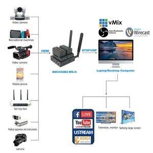 Image 2 - Unisheen H.265 H.264 SRT koder wideo 2.4G 5.8G WIFI HDMI bardzo długa żywotność Vmix Wowza Youtube Facebook Ip Rtmps przekaz na żywo