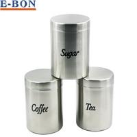 Brand New Storage Tank Stainless Steel Seal Pot Coffee Tea Sugar Container Jar