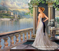 Free Shipping Women 3d Diy Diamond Painting By Numbers Canvas Painting Full Embroidery Diamond Painting SH344