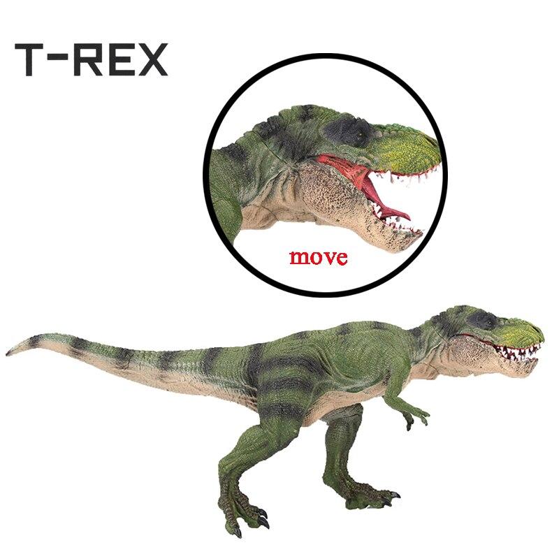 T-REX Realistic Large Dinosaur Action Figures Jurassic World Park Tyrannosaurus Rex Dinossauro Model Toy oenux prehistoric jurassic tyrannosaurus rex spinosaurus t rex dinossauro world model savage dinosaurs action figure toy for kid