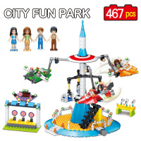 467 PCS City Fun Park Series Best Technic Enlighten Building Blocks Compatible LegoINGLYS Eductional Toys For