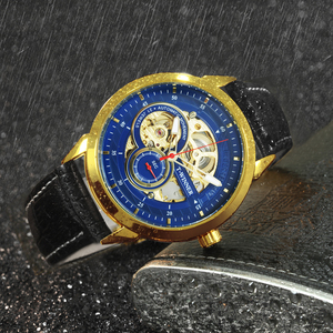 Image 4 - Vencedor oficial relógio mecânico automático masculino esqueleto relógios dos homens marca superior luxo pulseira de couro analógico relógios de pulso para o homem
