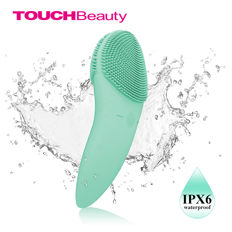 TOUCHBeauty Facial cleansing brush Sonic Vibration Face Cleaner Double-sided Silicone Deep Pore Cleaning Face Massager TB-1788 touchbeauty 3 in1 rotating facial cleansing brush set with 3 replacement brush heads 2 speed settings with storage box tb 0759a