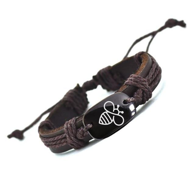 Customized  Bracelet Lovely Bee Leather Bracelet AliExpress Best Selling Handmade Bracelets 3