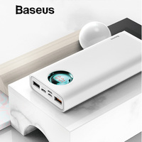 Baseus 20000mAh Power Bank For iPhone Samsung S10 USB Type C PD Fast Charging + Quick Charge 3.0 USB Powerbank External Battery