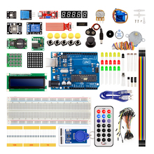 Arduino UNO R3 KITI için Yükseltilmiş versiyonu Starter Kit RFID Suite Step Motor Öğrenmek + ULN20031 set