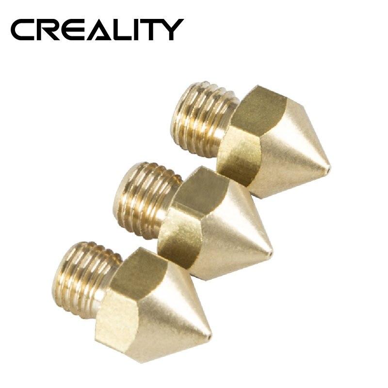 CREALITY 3D Printer Parts Original Creality CR-10S Pro 4PCS-Lot Nozzle 0.2MM-0.4MM-0.6MM-0.8MM-1.0MM