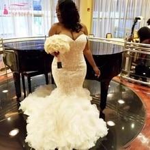 TANYA BRIDAL African Plus Size Mermaid Wedding Dress
