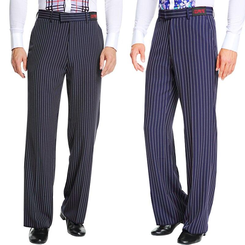 Latin Dance Pants Men Stripe Trousers Cha Modern Tango Rumba Ballroom Competition Dancing Clothes Latin Dancewear