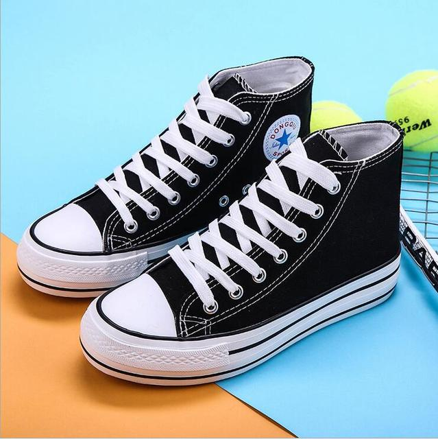 Hot sale! 2016 new high canvas shoes to help men and women casual shoes size 35-40