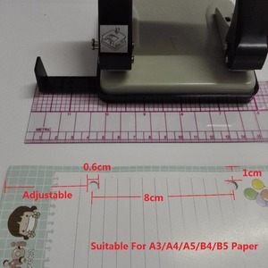 Image 4 - Multifunctional Meidum โลหะ 2   Hole Punch สำหรับ A3/A4/A5/B4/B5 กระดาษคู่ keypunch รูขนาด 6 มิลลิเมตร 20 กระดาษ time เบอร์ 9660