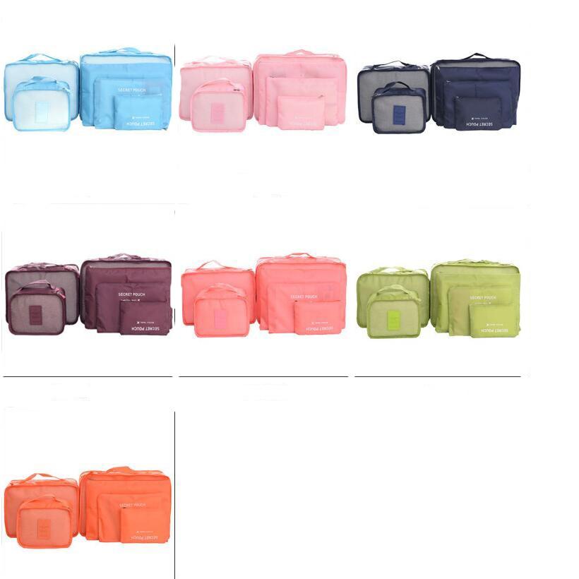 Koleksiyon çanta seyahat çantası seti 6 adet / takım Erkekler ve - Bagaj ve Seyahat Çantaları - Fotoğraf 6