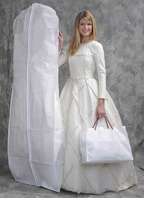 High Quality White Breathable Garment Bag Wedding Dress/Wedding Gown Storage Bag~~  sc 1 st  AliExpress.com & High Quality White Breathable Garment Bag Wedding Dress/Wedding ...