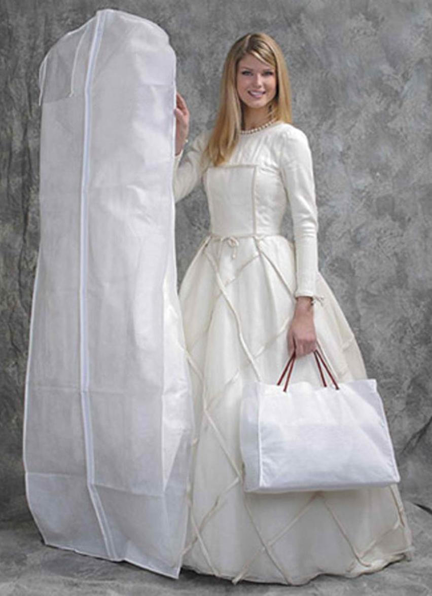 Hohe Qualität Weiß Atmungs Kleidersack, Hochzeitskleid/Brautkleid ...