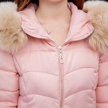 Мода Зима Теплый Пуховик женщин Короткий Тонкий Пальто Женщин вниз Хлопок Искусственного Меха С Капюшоном Куртка Пальто Плюс Размер М-2XL
