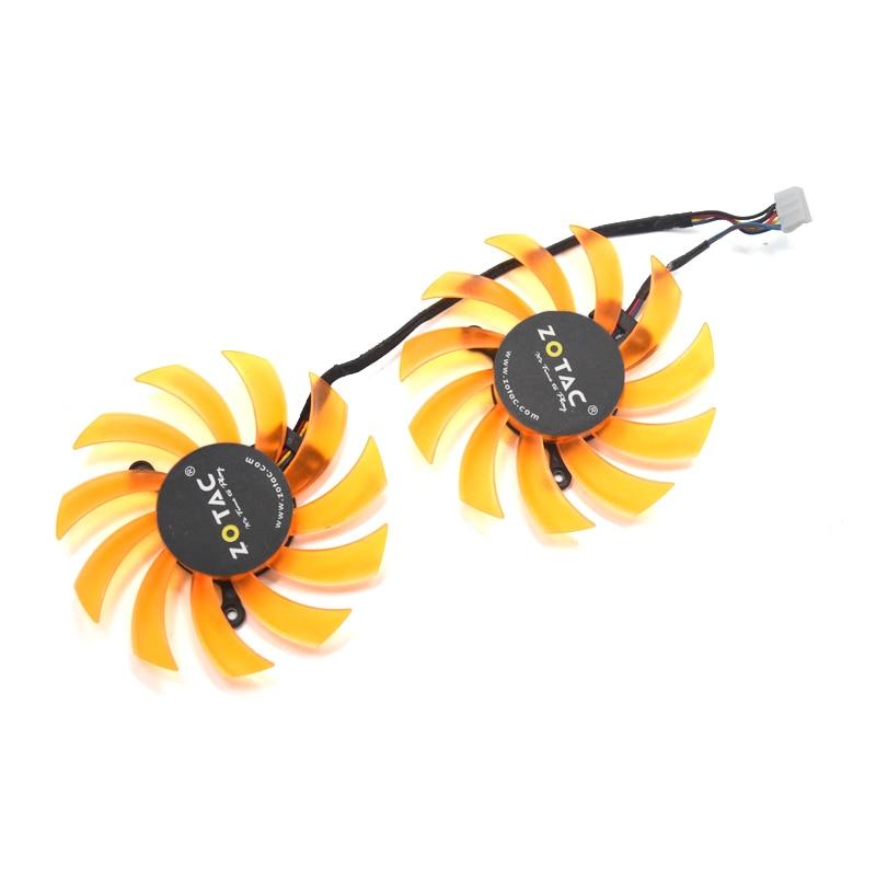 2pcs/lot 75mm FD7010H12S GTX660Ti GPU Card 4Pin Cooler Fan For Zotac GTX660Ti GTX650Ti Boost Video Card Cooling 2pcs lot ga81s2u 12v 0 38a 75mm 4pin apistek cooler fan for zotac gtx960 4g pci edc graphics card fan