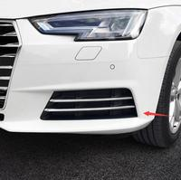 For Audi A4 b9 2016 2017 ABS Chrome Car front fog lamp light strip Frame Covers Trim accessories Car Styling 4pcs