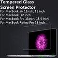 Mais novo protetor de tela de vidro temperado transparente para macbook retina pro ar 11 12 13 13.3 15.4 polegada temperado película protetora