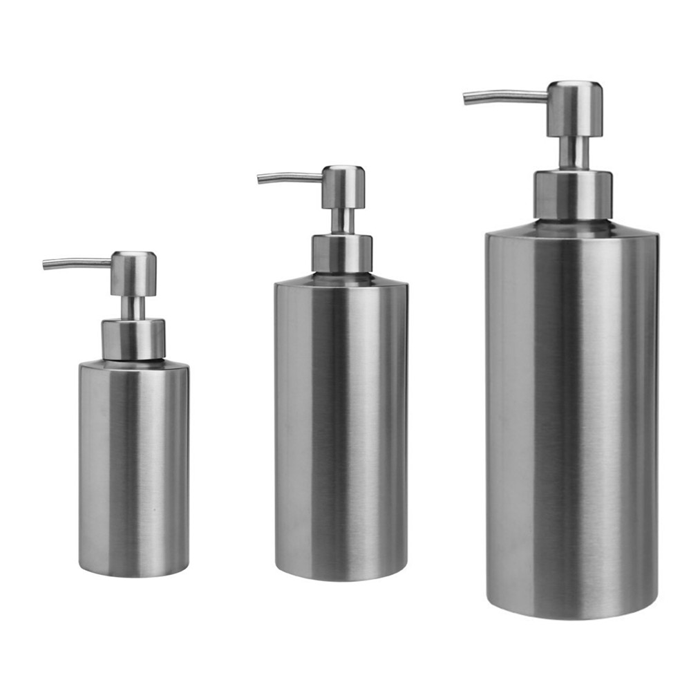 Liquid Soap Dispenser Bottle Gel Bottle 304 Stainless Steel Kitchen Bathroom Lotion Pump 250ml350ml550ml
