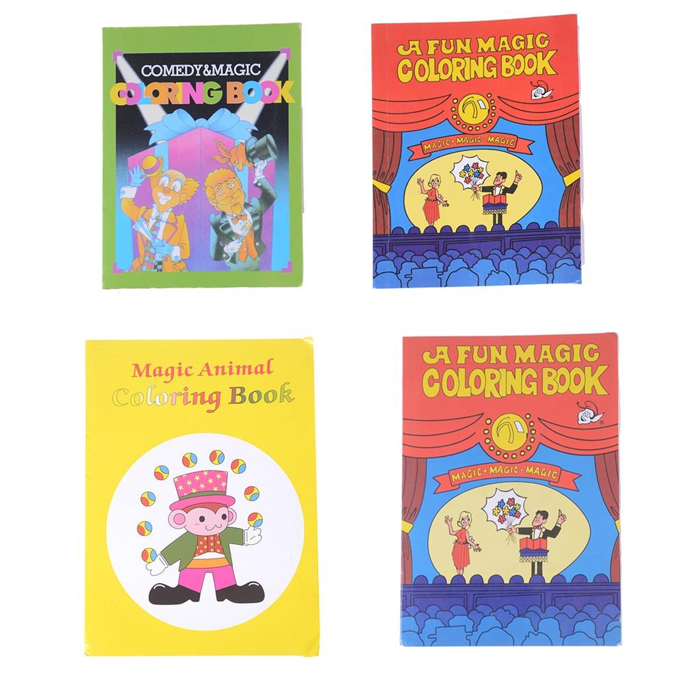 US $1.52 31% OFF|1pc Paper 14*10*0.7cm Funny Comedy Magic Coloring Book  Smal/Medium Size Ellusionist Magic Tricks Illusion Kids Toy Paper Books-in  ...