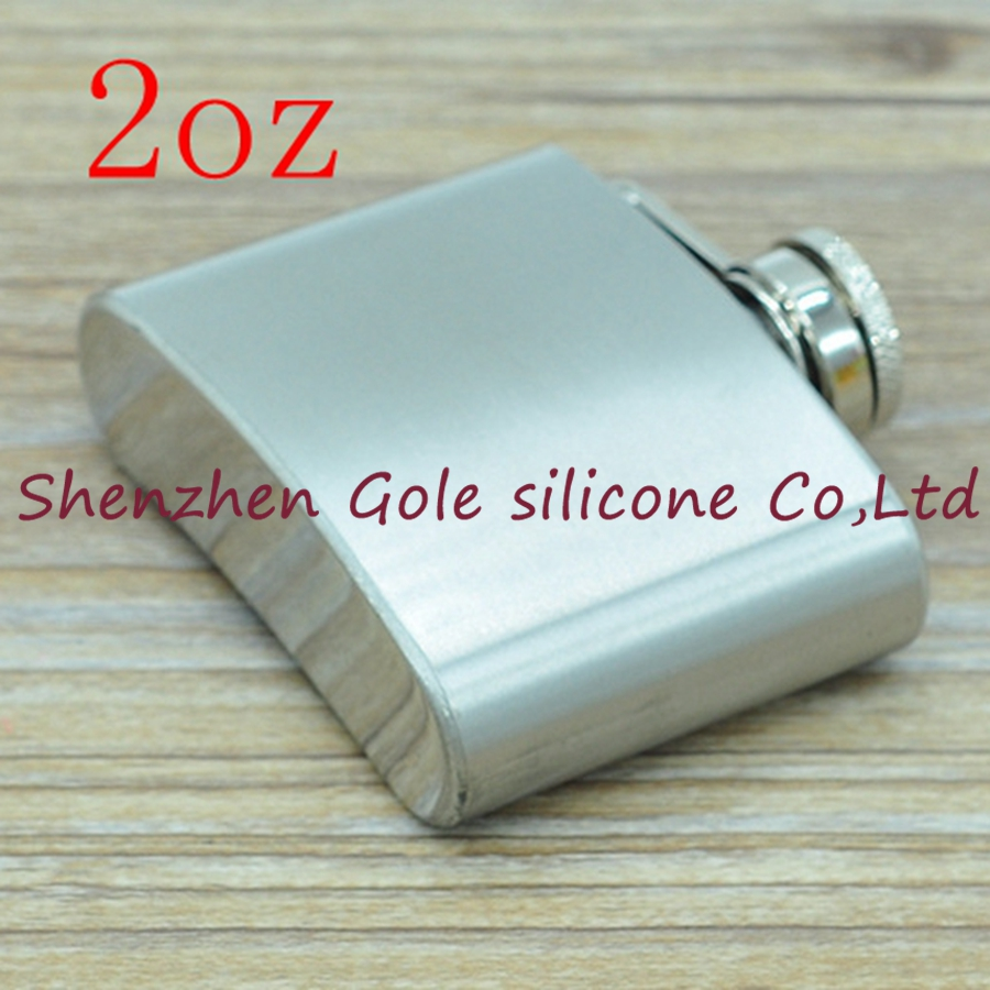 200pcs 2oz Stainless Steel Pocket Flask Russian Hip Flask Male Small Portable Mini Shot Bottles Whiskey Jug Small Gifts For Man