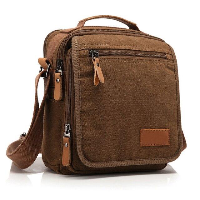 Fashion Vintage Crossbody Bag Canvas men Shoulder Bag Men Messenger Bag  male casual Leisure bag korean 10d15d2c8c