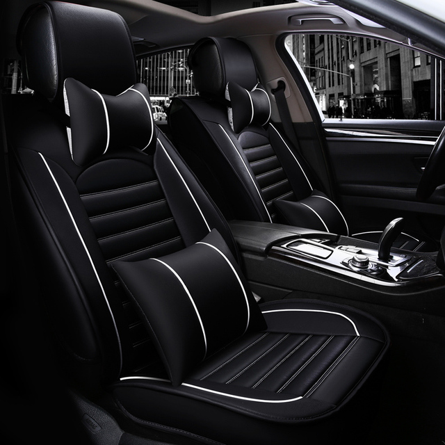 Luxury Car Seat Covers Soft Comfortable Leather Car Seat Cover Set
