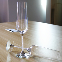 2015 New Design Hot Sale Clear Crystal 270ml Wine Glasses Set