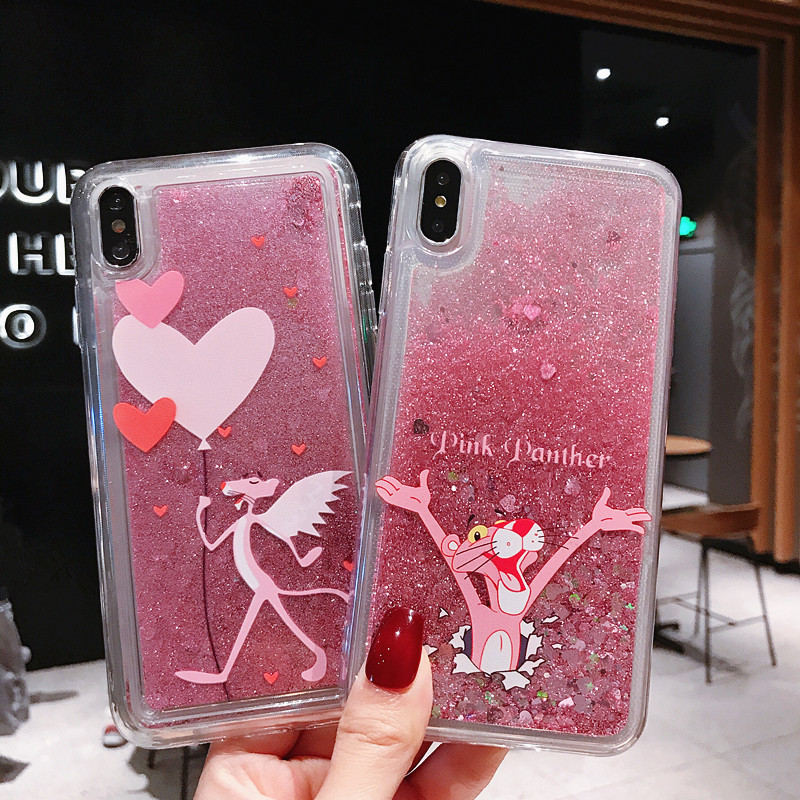 Cute Cartoon Animal unicorn Dynamic Flash Liquid Quicksand Phone Case For iphone 6 6s 8 7 plus X XS MAX XR Protection cover case in Fitted Cases from Cellphones Telecommunications