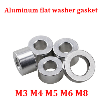 20pcs 10pcs Aluminum flat washer M3 M4 M5 M6 M8 aluminum bushing gasket spacer no thread CNC sleeve round standoffs for RC model image