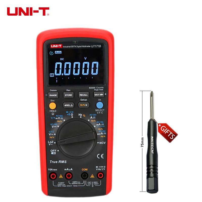 UNI-T UT171B Digital Multimeters Eletronic AC DC True RMS Auto/Manual Range Admittance (nS) C/F Thermometer VFC LCD Backlight