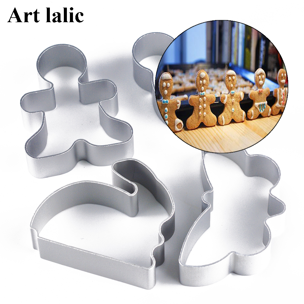Gingerbread Man Shaped Cookie Cutter Metal Biscuit Jelly Pastry Cake Bake Mould