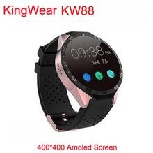 "2016 s mart w atch 3กรัมkingwear kw88 pk finow x5 x61.39 ""amoled 400*400 smart watch 3gโทร2.0mpกล้องpedometerหัวใจอัตรา"