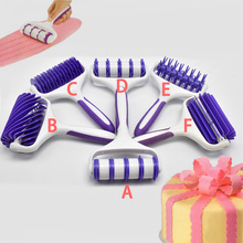 HOT DIY Fondant Strip Ribbon Cutter Tool Cake Rolling Pin Embosser Mold Mould For Biscuits NDS66