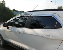 цена на ABS Chrome plastic Window Visor Vent Shades Sun Rain Guard car accessories for Ford EcoSport 2013 2014 2015-2018 car accessories