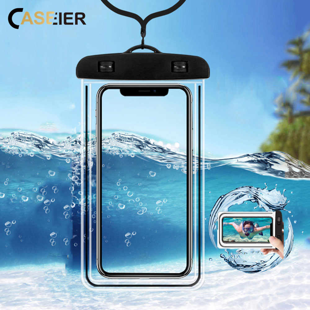CASEIER Phone Case Waterproof Ultra-thin Photography Underwater   Universal Protector Pouch Bag For Huawei P20 10 Mate 20 10