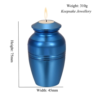 Image 5 - In Memory of Loss Lover Mini Cremation Urn Engravable Funeral Candlestick Hold Ashes Keepsake Stainless Steel Cremation Jewelry