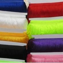 ( 10yards/lot) high density 15CM Polyester BorlasTassel Fringe Trimming Lace For Latin Dress Samba Stage zakka patchwork