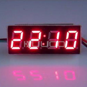 Red Display Led Clock 24 Hours Digital Clock/Time Meter DC 12V 24V Digital Meter/Car Clock DIY Time Monitor/Tester 24 hour digital clock yellow led display car clock digital meter panel meter adjustable clock dc 12v 24v diy time monitor tester