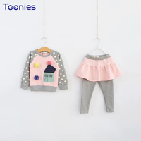 Hot Sale Children Sportswear Toddler Girls Pants Suits 2018 Newest Design Kids Suit Clothes Lovely Princess