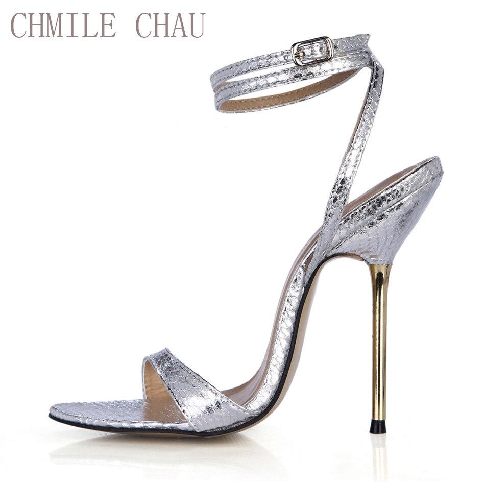 CHMILE CHAU Snakeskin Sexy Party Shoes Կանացի ստիլետտո - Կանացի կոշիկներ