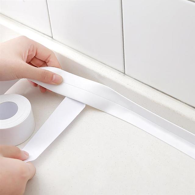 Adhesive Tape Mildew Resistant Waterproof Caulk Strip For Kitchen