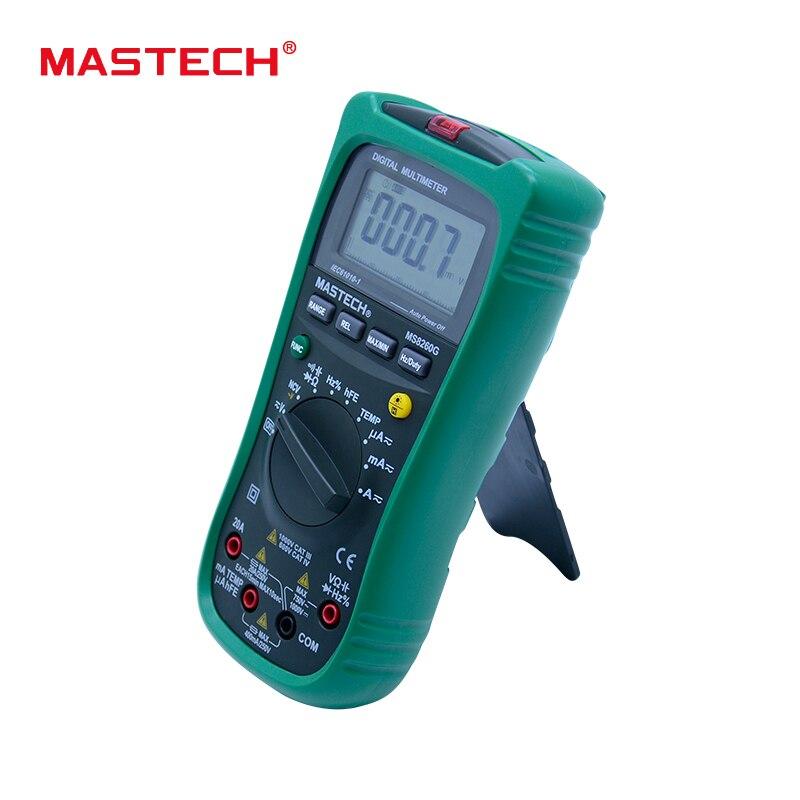 MASTECH MS8260G Gamme Auto Multimètre Numérique ohm tension et courant Capacité Fréquence Température Mètre