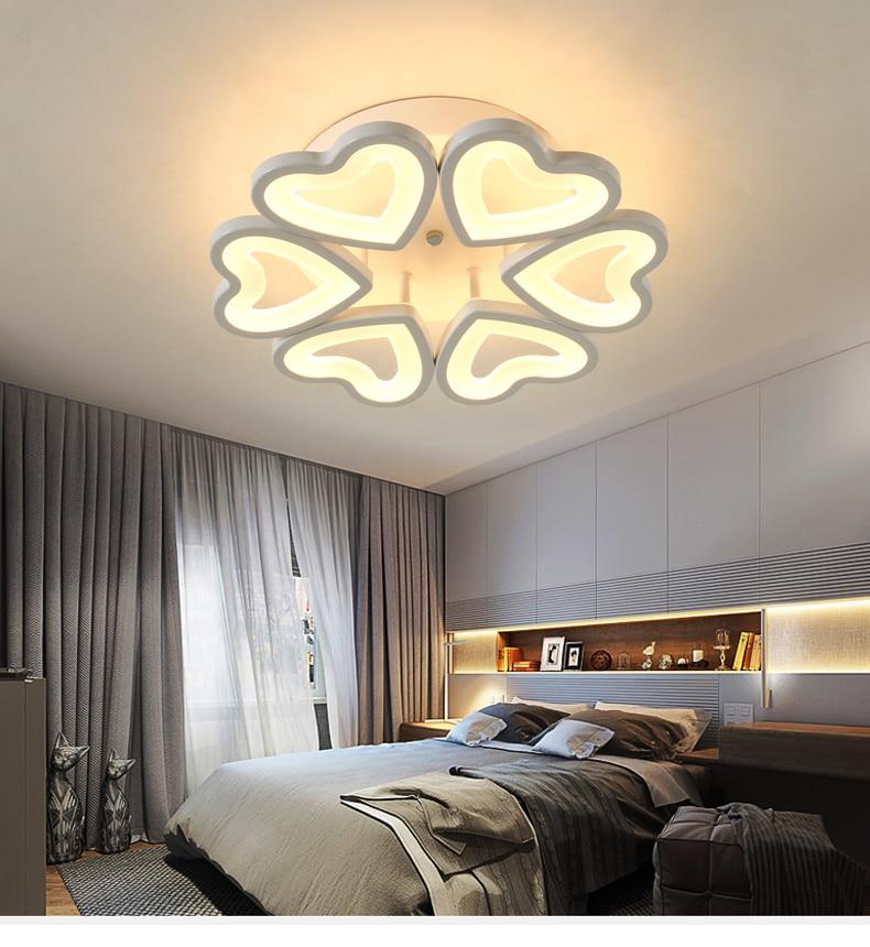 HTB1LHpybBjTBKNjSZFwq6AG4XXab Special discount 6 heads  New Design Acrylic Modern Led Ceiling Lights lampe plafond avize Indoor 4 shapes 100-240V